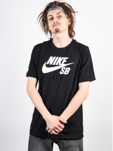 NIKE SB triko DRI-FIT BLACK/WHITE