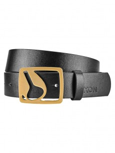 NIXON pásek ICON CUT OUT VEGAN BLACKGOLD