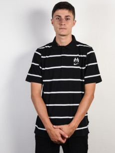 NIKE SB tričko DRY POLO JERSEY BLACK/WHITE