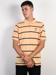 NIKE SB tričko DRY POLO JERSEY GOLD/OBSIDIAN