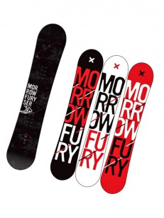 MORROW snowboard FURY WIDE BLK/RED 154W