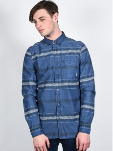 ELEMENT košile MOORE MIDNIGHT BLUE