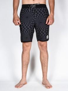 VANS koupací šortky MIXED SCALLOP BLACK/BLACK WARP