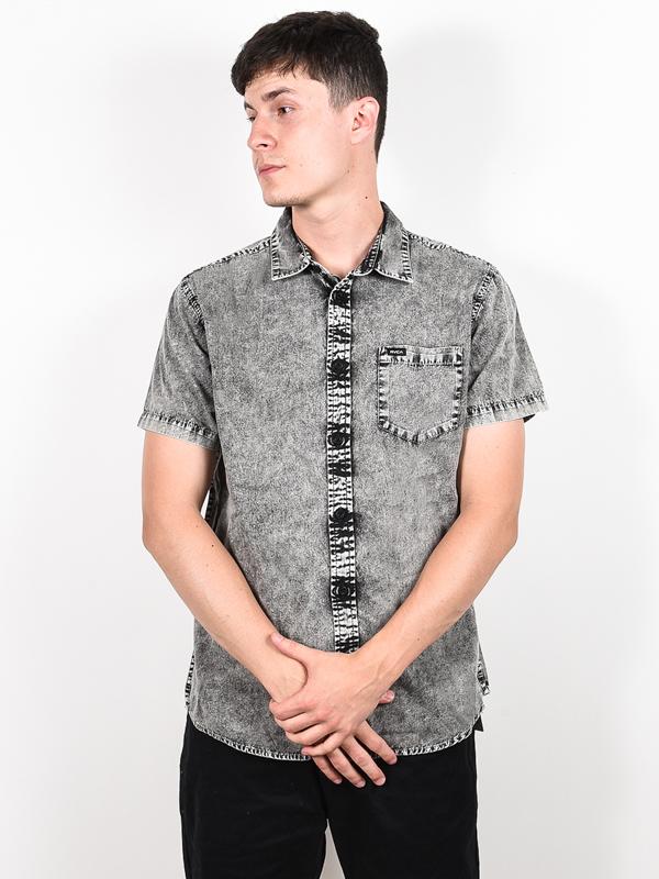 Rvca Košile Greyson Black - Xl šedá