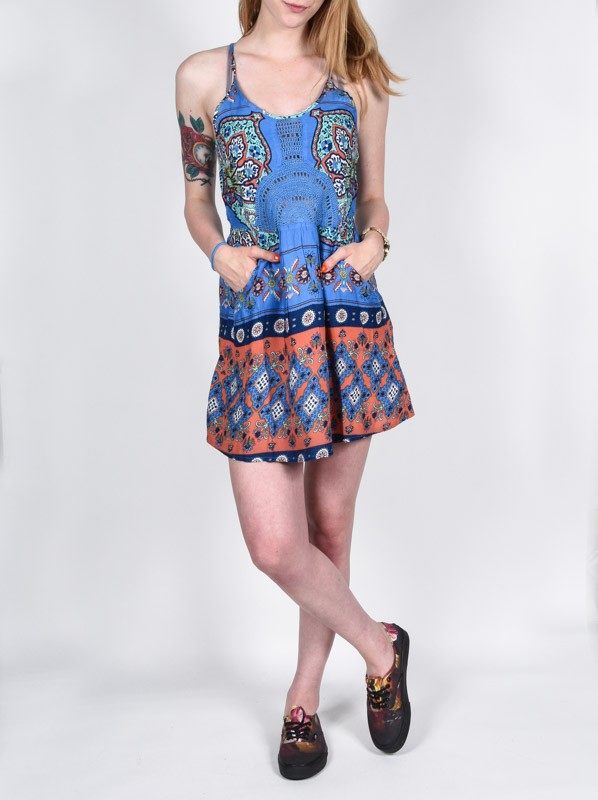 Roxy Šaty Dance Bla6 - Xs modrá