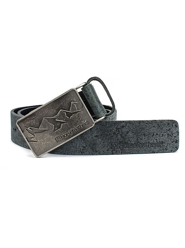 Horsefeathers Pásek Vince Vintage Black černá