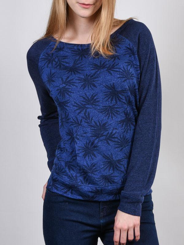 Rip Curl Mikina Oasis Palm Peacoat - S modrá