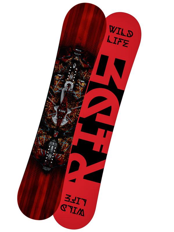 Ride Snowboard Wildlife Blk/red 161 černá