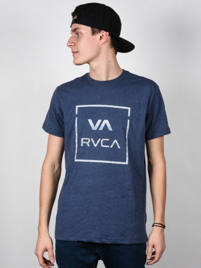 RVCA triko ROLLO ALL THE WAY MIDNIGHT HEATHER