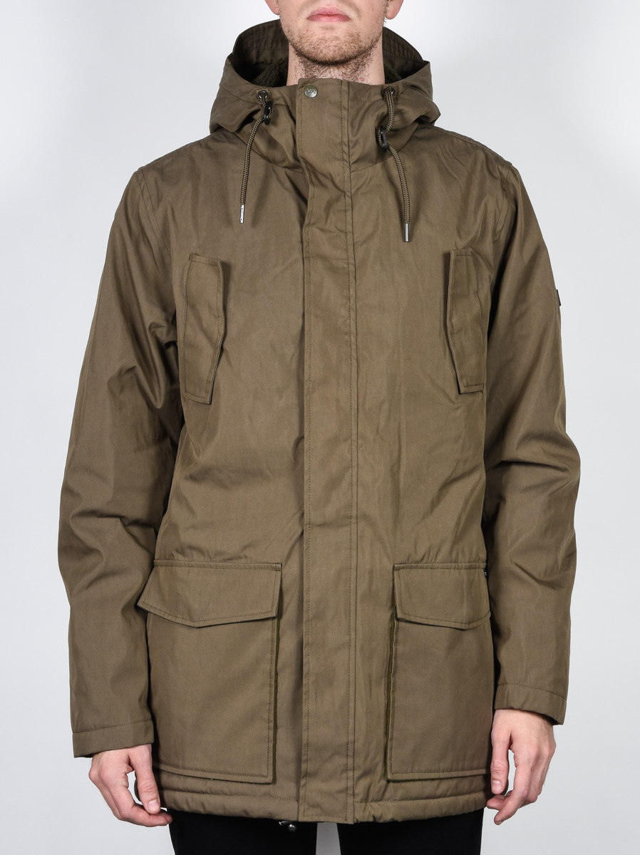 Rvca Bunda Ground Dark Khaki - L hnědá