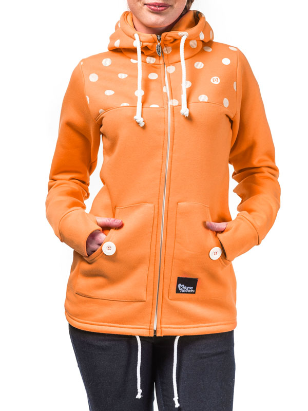 Horsefeathers Mikina Ariane Pumpkin - Xs oranžová
