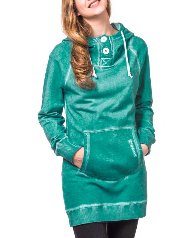 Horsefeathers Mikina Mooni Washed Opal - Xs zelená