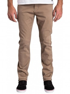 BILLABONG kalhoty SLIM OUTSIDER COLOR KHAKI