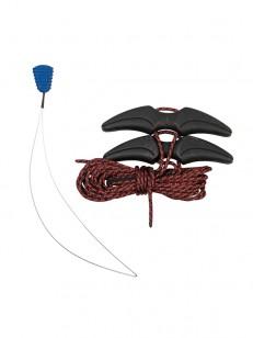 BURTON snowboardové tkaničky LACE KIT BLACK/RED