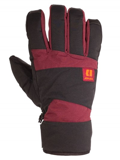 ARMADA rukavice FORMULA burgundy