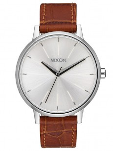 NIXON hodinky KENSINGTON LEATHER SILVERSADDLE/GATO