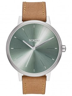 NIXON hodinky KENSINGTON LEATHER SADDLESAGE