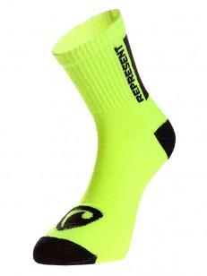 REPRESENT ponožky SIMPLY LOGO SHOCK YELLOW