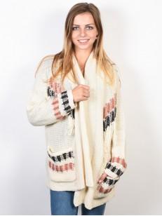 BILLABONG svetr IN STITCHES WHITE CAP