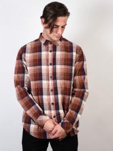 BILLABONG košile COASTLINE FLANNEL BROWN