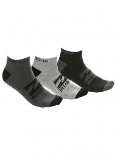 BILLABONG ponožky ANKLE 3 PACK GRY