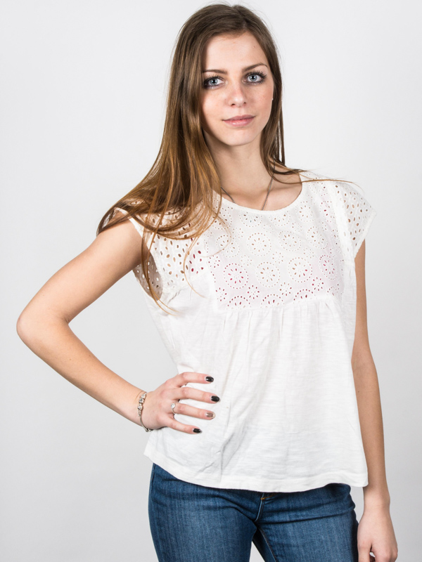 Roxy Top Boho Dance Marshmellow - S bílá