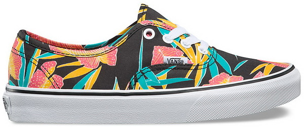 Vans Boty Authentic (tropical Leaves) Black - 6usw