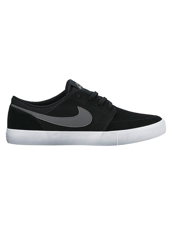 Nike Sb Boty Solarsoft Portmore Ii Black/dark Grey černá