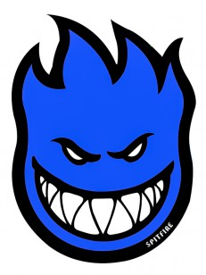 SPITFIRE samolepka FIREBALL BLUE