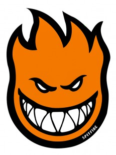 SPITFIRE samolepka STICKER FIREBALL ORANGE
