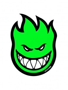 SPITFIRE  STICKER FIREBALL GREEN