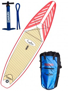 SHARK paddleboard TOURING RED/WHT 10,6-30