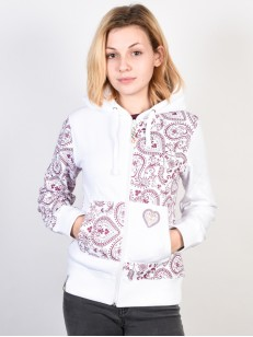 RIDE mikina SERIES PRINT WHITE PAISLEY