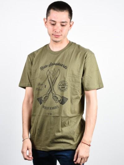 RIDE triko MACHETE MILITARY GREEN