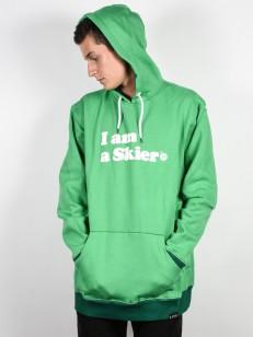 LINE mikina I AM A SKIER KELLY GREEN