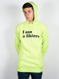 LINE mikina I AM A SKIER ELECTRIC YELLOW