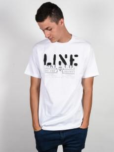 LINE triko STENCIL WHITE