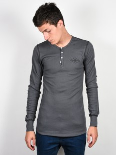 RIDE tričko HENLEY CHARCOAL