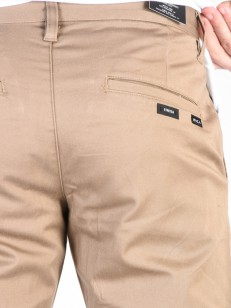 RVCA kalhoty WEEKEND STRETCH DARK KHAKI
