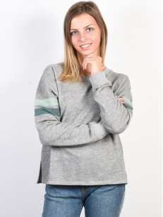 RVCA mikina AT EASE HEATHER GREY