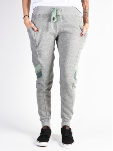 RVCA tepláky GO EASY HEATHER GREY