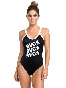 RVCA plavky REAL TALK ONE PIECE BLACK