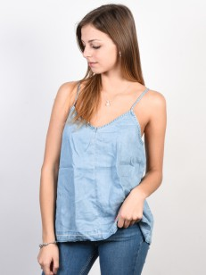 RVCA top RAIDED CHAMBRAY