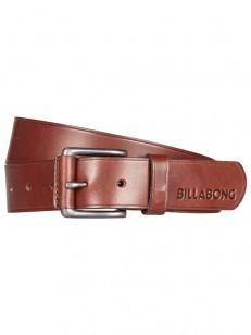 BILLABONG pásek CURVA LEATHER CHOCOLATE