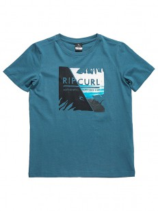 RIP CURL tričko BREAKER WAVE INDIAN TEAL