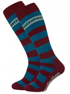 HORSEFEATHERS ponožky LEVI ruby