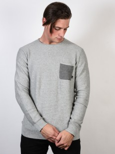 QUIKSILVER svetr BAGGAO LIGHT GREY HEATHER
