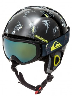 QUIKSILVER helma GAME PACK BLACK DARK DOGGY SNOW
