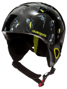 QUIKSILVER helma THE GAME BLACK DARK DOGGY SNOW
