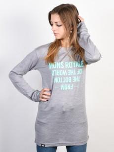 MONS ROYALE triko BOYFRIEND grey marl